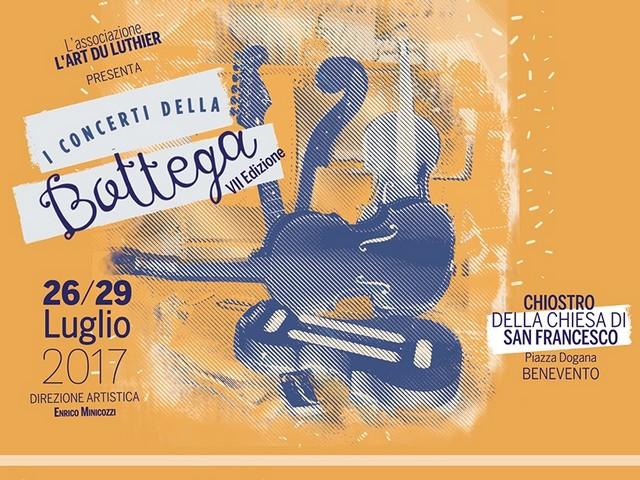 Settima edizione per la rassegna 'I Concerti della Bottega'