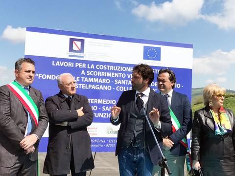 Inaugurazione strada a Castelpagano. Mortaruolo: 'La Regione sta investendo sulla sicurezza stradale'