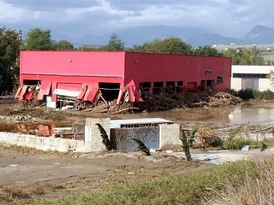 Ingenti i danni delle industrie ubicate a Ponte Valentino