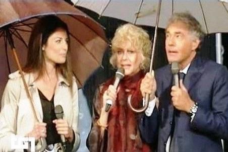 Scende la pioggia e salta la diretta Rai