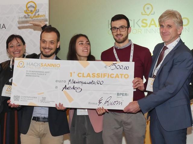 Aedes, Zero CV, Satel Trail i vincitori di HackSannio 2017