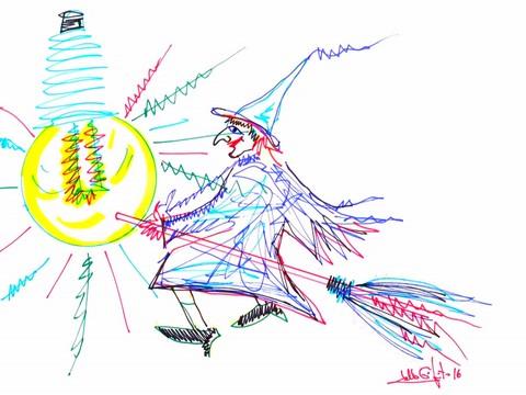 'Streghe in luce': ecco il logo della manifestazione natalizia realizzato dal maestro Lello Esposito