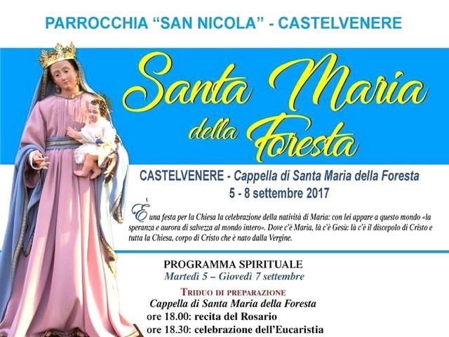 CASTELVENERE - Tutto pronto per i festeggiamenti in onore della Madonna della Foresta