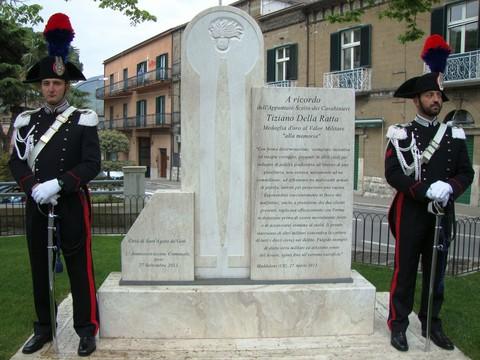 SANT'AGATA DE' GOTI - Quarto anniversario della tragica morte dell'Appuntato Scelto dei Carabinieri Tiziano Della Ratta