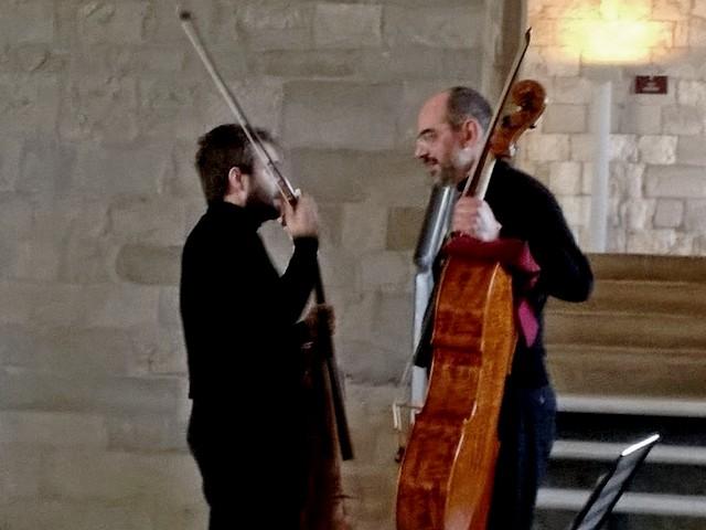 I violoncellisti Gianluca Giganti ed