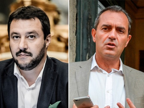 Salvini - De Magistris, scontro tra star in cerca di pubblicità