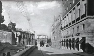 Via Arco Traiano anni '50